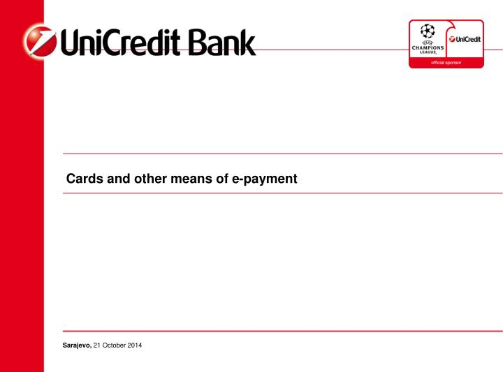 cards and other means of e payment n.