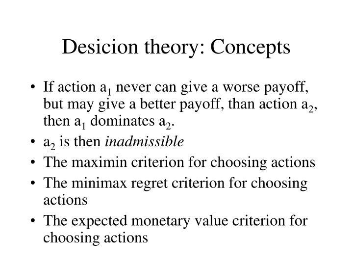 Desicion theory: Concepts