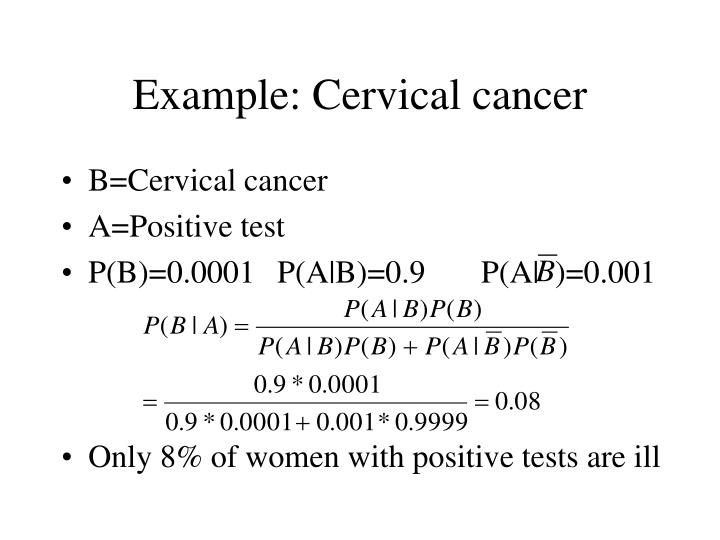 Example: Cervical cancer