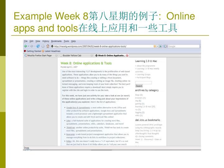 Example Week 8