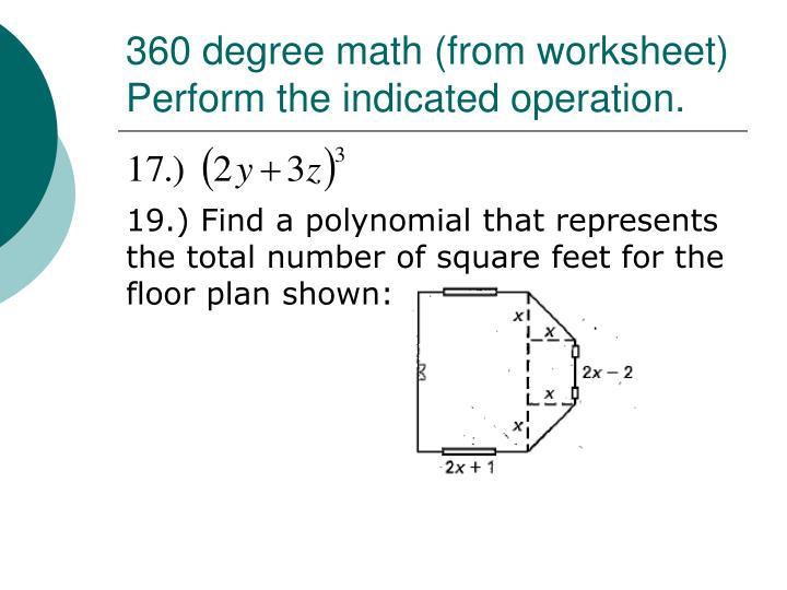 360 degree math (from worksheet)