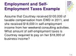 employment and self employment taxes example