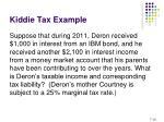 kiddie tax example