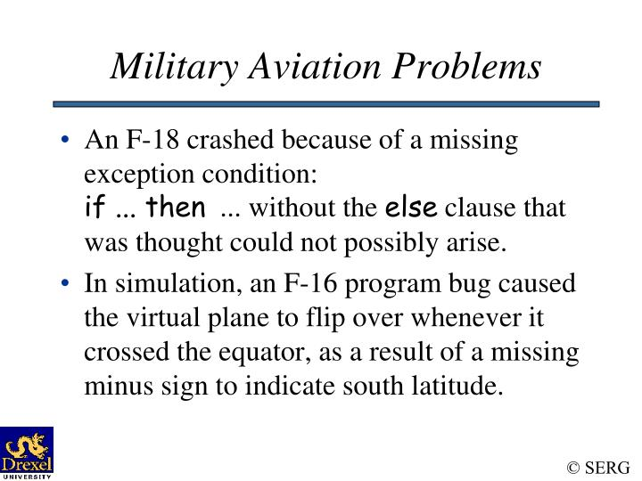 Military Aviation Problems