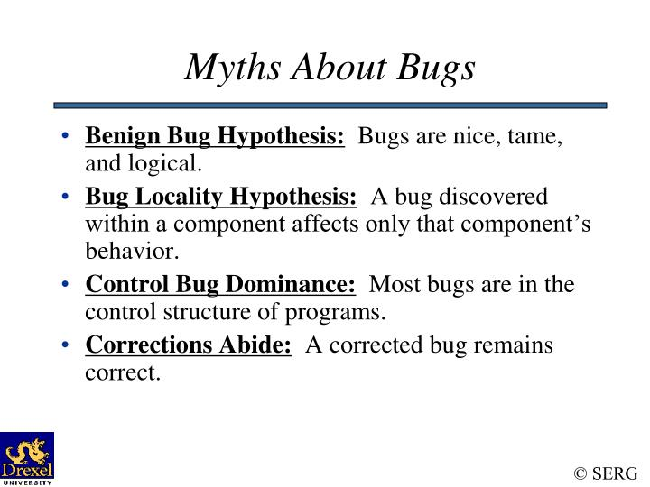 Myths About Bugs