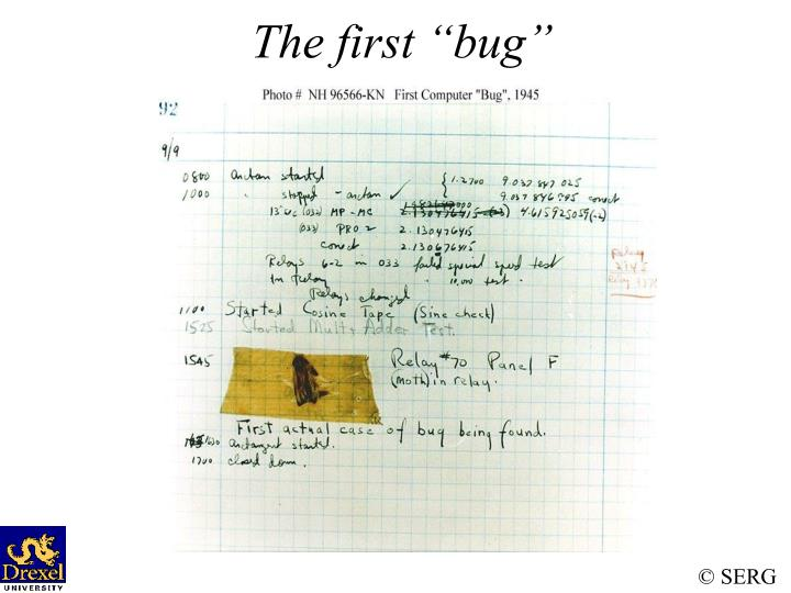 The first bug