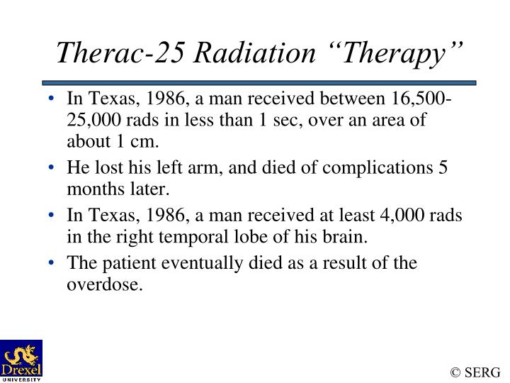 "Therac-25 Radiation ""Therapy"""