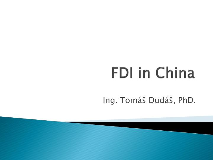 fdi in china n.