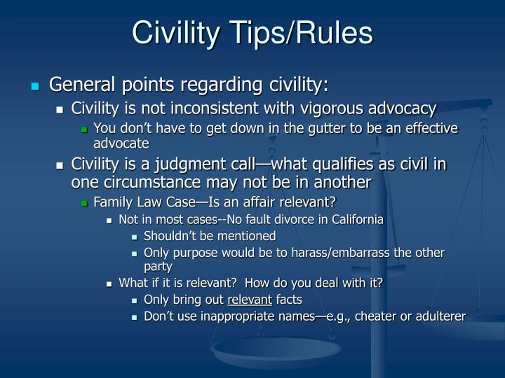 Civility Tips/Rules