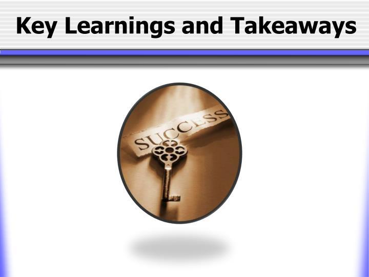 Key Learnings and Takeaways