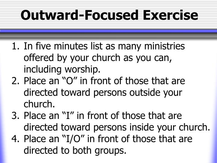 Outward-Focused Exercise