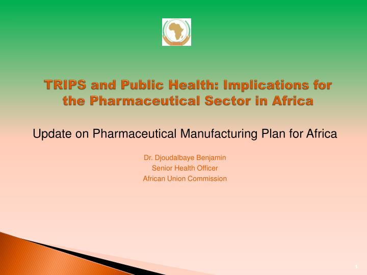 trips and public health implications for the pharmaceutical sector in africa n.