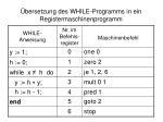 bersetzung des while programms in ein registermaschinenprogramm