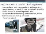past solutions in jordan parking meters