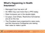what s happening in health insurance