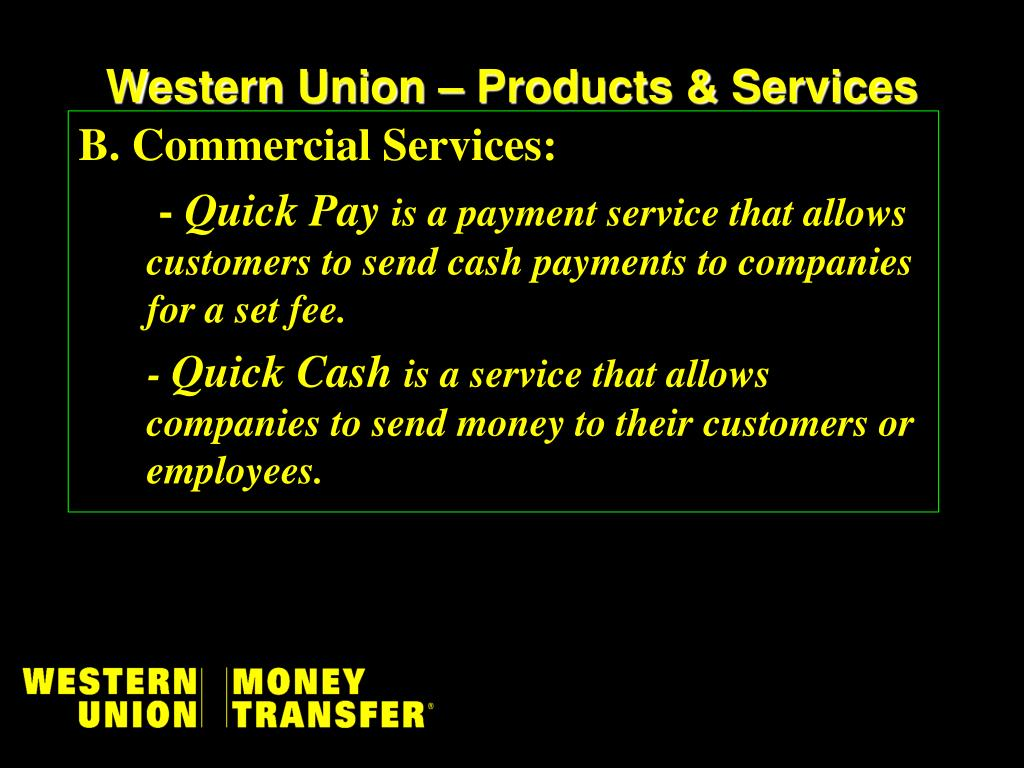 PPT - WESTERN UNION FINANCIAL SERVICES INTERNATIONAL