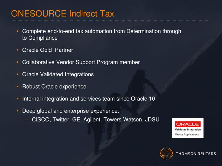 ONESOURCE Indirect Tax