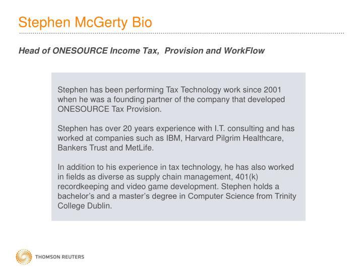 Stephen mcgerty bio