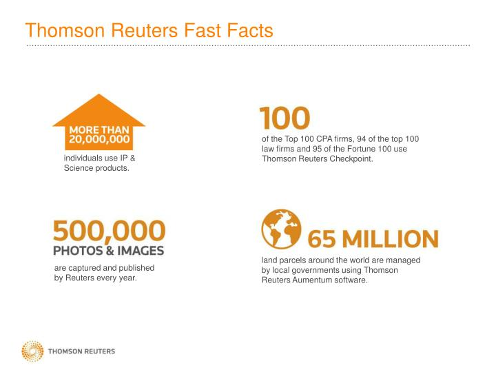 Thomson Reuters Fast Facts