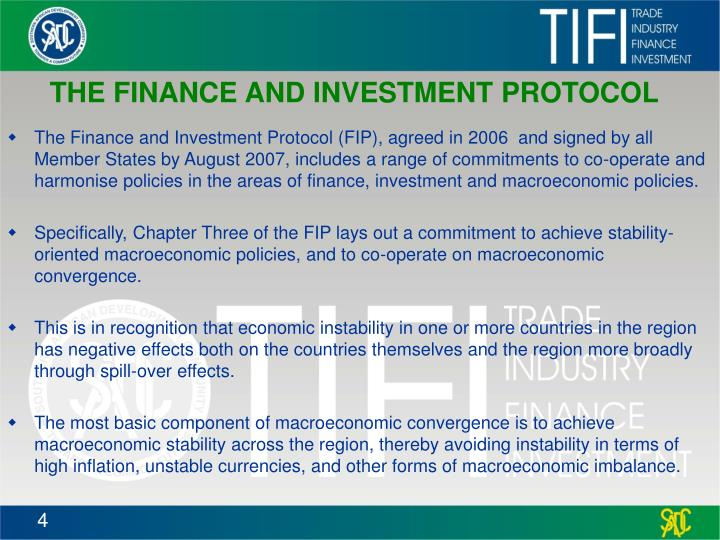 THE FINANCE AND INVESTMENT PROTOCOL