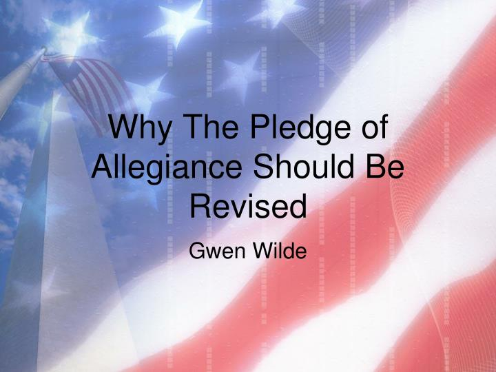 pledge of allegiance essay The pledge of allegiance of the united states is an expression of allegiance to the flag of the united states and the republic of the united states of america, originally composed by rear admiral george balch in 1887, later revised by francis bellamy in 1892 and formally adopted by congress as the pledge in 1942.