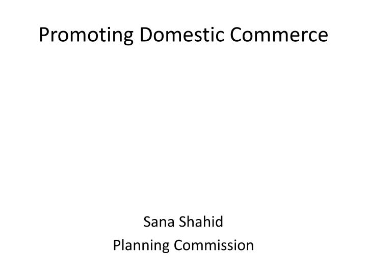promoting domestic commerce n.