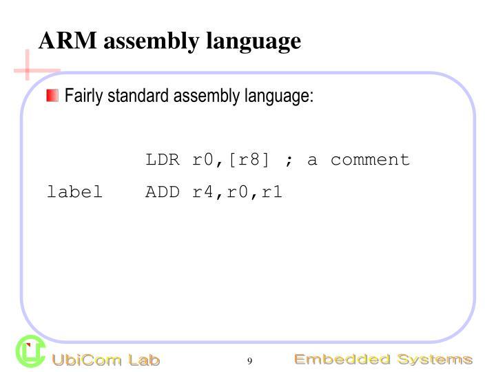 ARM assembly language