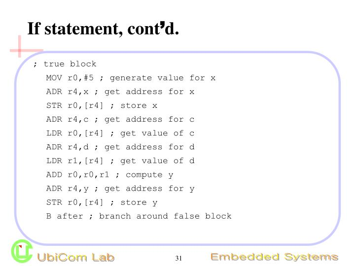 If statement, cont
