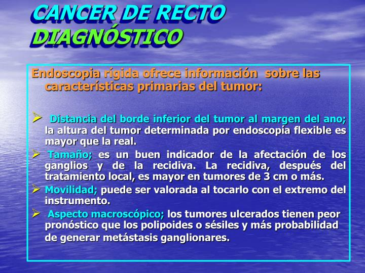 Cancer de recto diagn stico