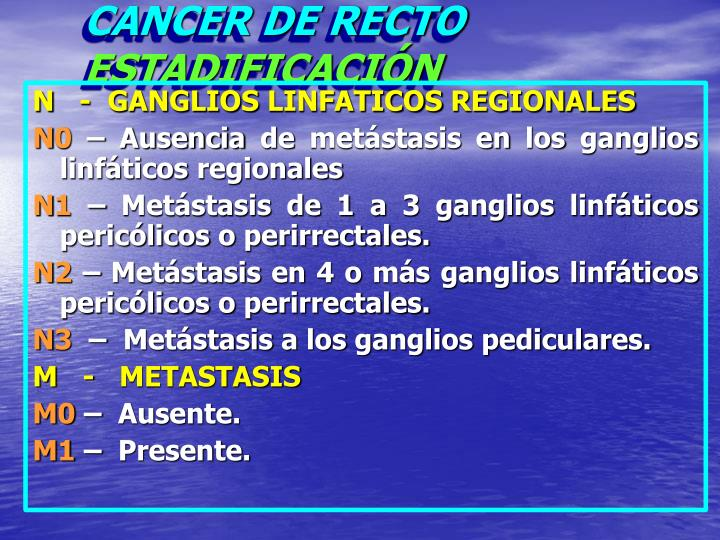 CANCER DE RECTO