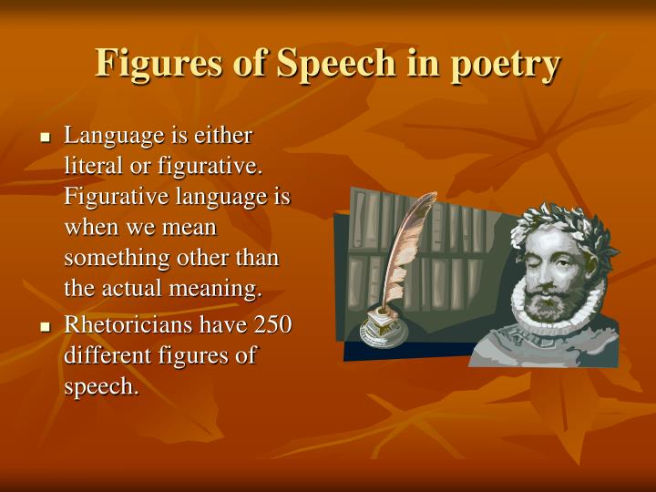 Figures of Speech in poetry