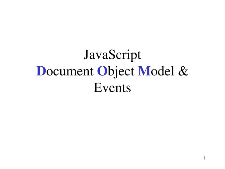 javascript d ocument o bject m odel events n.