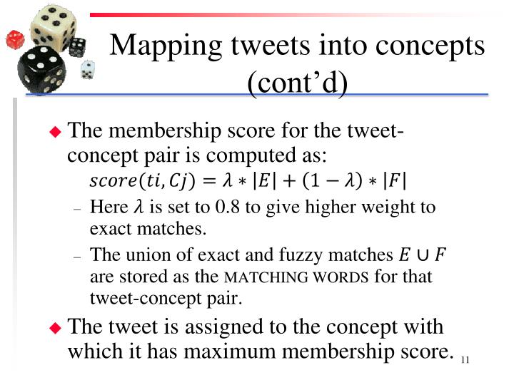 Mapping tweets into