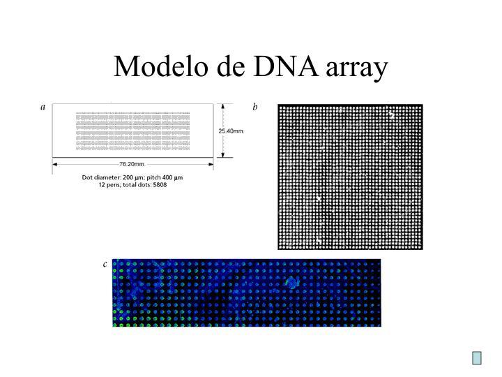 Modelo de DNA array