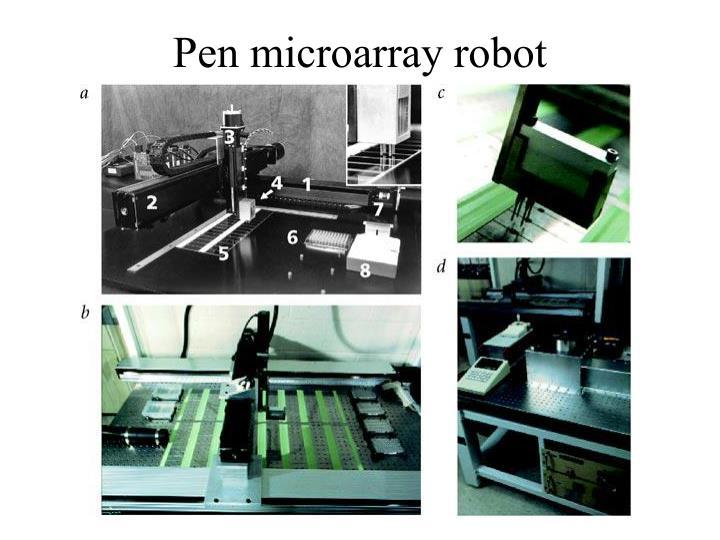 Pen microarray robot