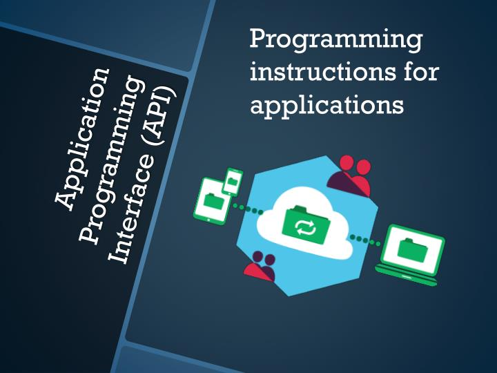Programming instructions for applications