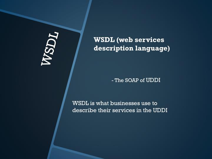 WSDL (web services description language)