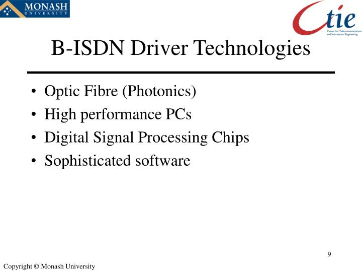 B-ISDN Driver Technologies