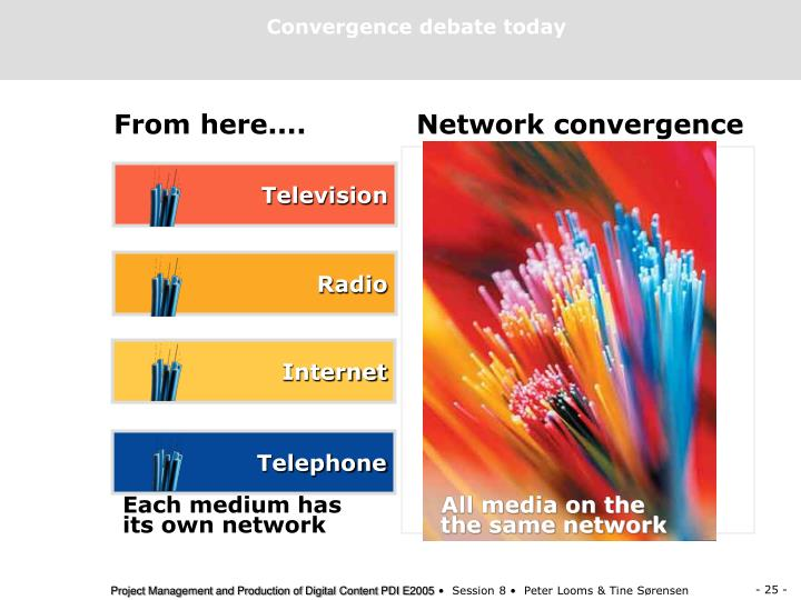 Convergence debate today