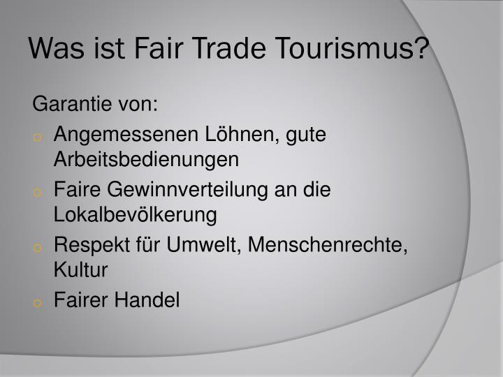 ppt fair trade tourismus powerpoint presentation id. Black Bedroom Furniture Sets. Home Design Ideas