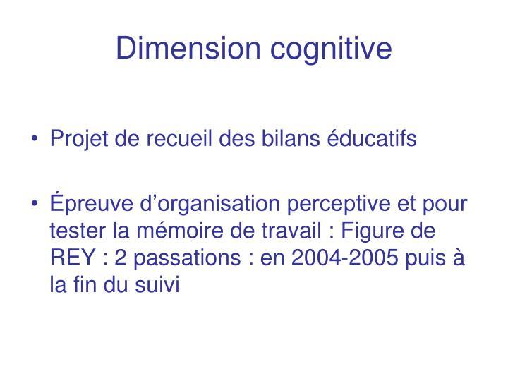 Dimension cognitive