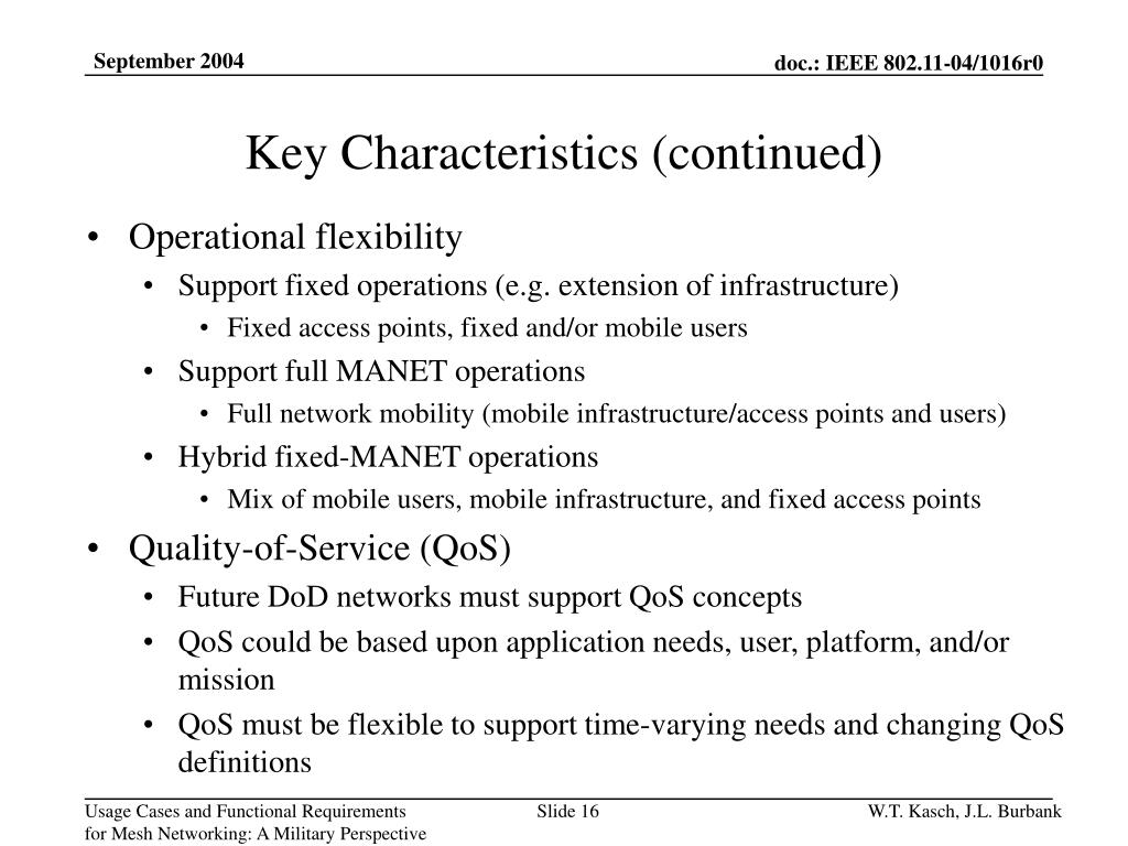 PPT - Usage Cases and Functional Requirements for Mesh Networking: A