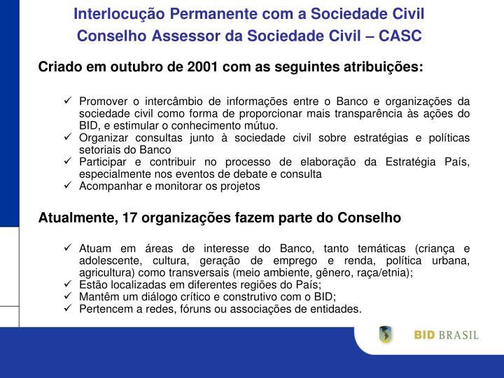 Interlocução Permanente com a Sociedade Civil
