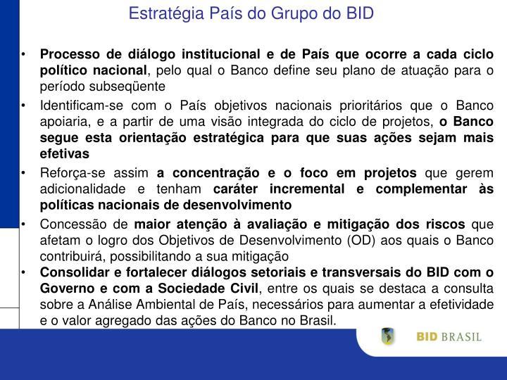 Estratégia País do Grupo do BID