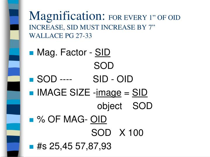 Magnification: