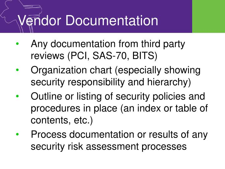 Vendor Documentation