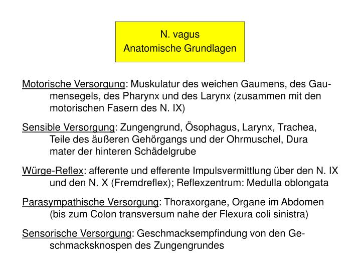 PPT - Hirnnerven-Läsionen N. IX, N. X, N. XI, N. XII PowerPoint ...