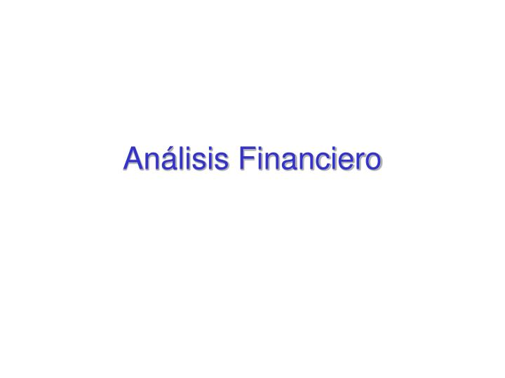 An lisis financiero