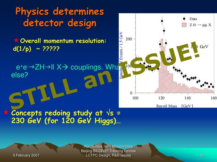 Physics determines detector design