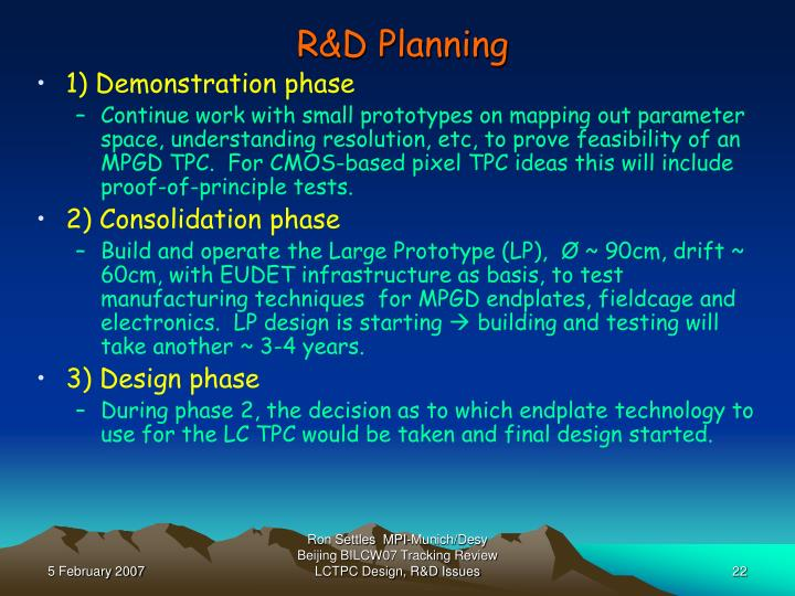 R&D Planning